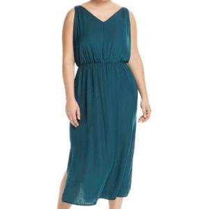 VINCE CAMUTO Tropic Heat V Neck Maxi Dress Boho